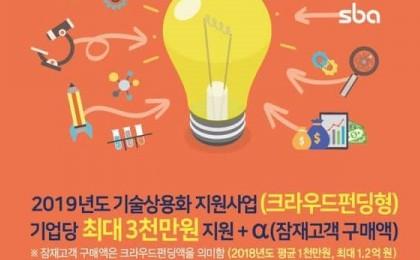 SBA, 크라우드펀딩 플랫폼 '크라우디'와 MOU 체결…中企R&D 전주기 지원력 강화