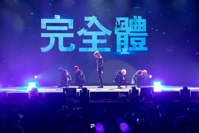 22일 서울 송파구 올림픽공원 올림픽홀에서는 AB6IX 데뷔앨범 'B:COMPLETE' 발매기념 쇼케이스가 열렸다. (사진=브랜뉴뮤직 제공)