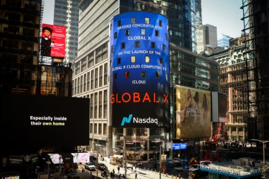 미국주식 직구 인기, Global X CLOU ETF 해외주식 매수 금액 1위