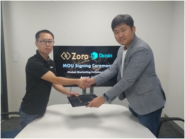 Zoro, Dcoin과 전략적 파트너십 구축 통해 한국 시장 진출