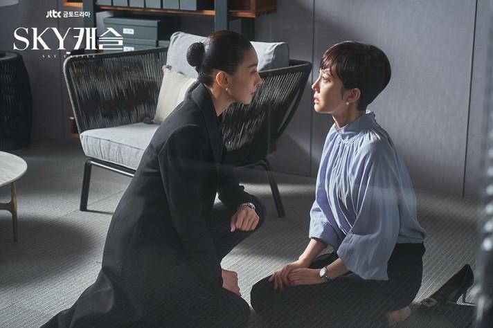 드라마 '스카이(SKY) 캐슬'에 출연한 배우 염정아와 김서형이 정부로부터 대통령·국무총리 표창을 받는다. / 사진 = JTBC