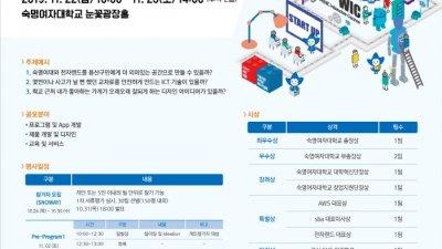 SBA-숙명여대, '사회문제 해결형' 테크 해커톤 개최…22~23일 일정, 지속가능 지역상생모델 모색