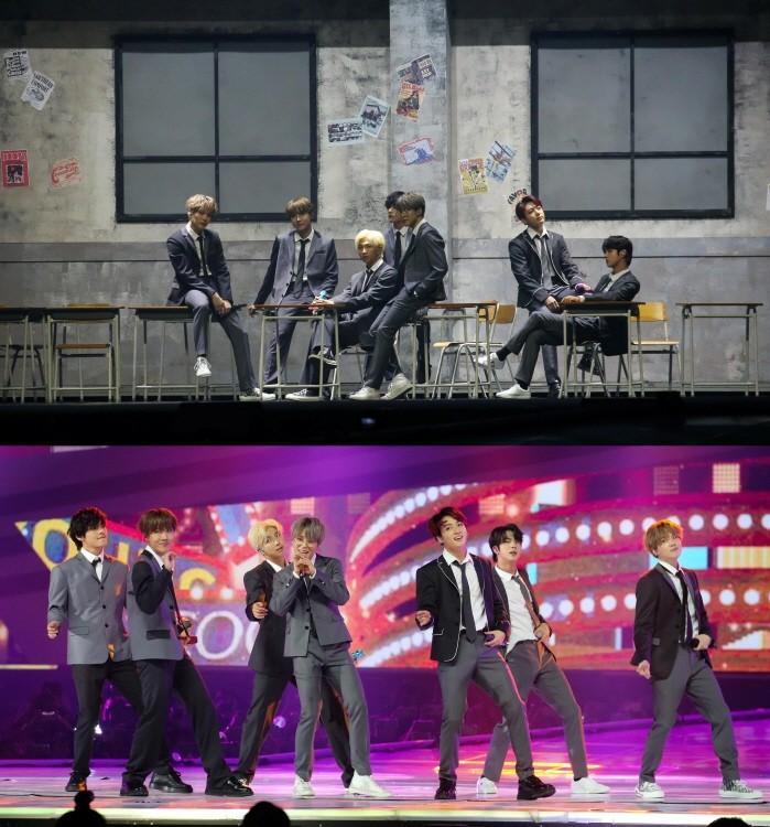 방탄소년단 무대(사진=카카오 제공)