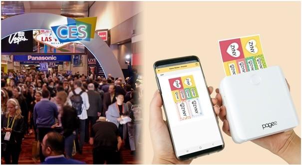 싱크라운, '만능 모바일 스티커 프린터 Pagee(페이지)' CES 2020 통해 선보여