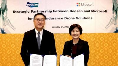 한국MS-두산모빌리티이노베이션, 수소연료전지 드론 솔루션 협력