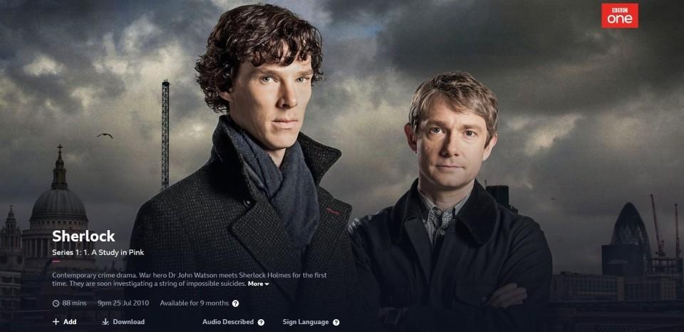 영국 드라마 '셜록' / 이미지 출처 : bbc.co.uk