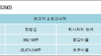 [ET투자뉴스][대창솔루션 지분 변동] 한명섭 외 5명 -1.29%p 감소, 17.84% 보유