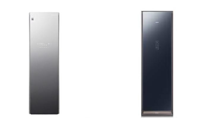 LG전자 스타일러  S5MBA(왼쪽)과 삼성전자 에어드레서 DF10R9700MG(오른쪽)