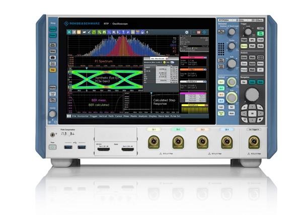 로데슈바르즈의 고성능 오실로스코프 R&S RTP와 K-133 지터 분석 소프트웨어