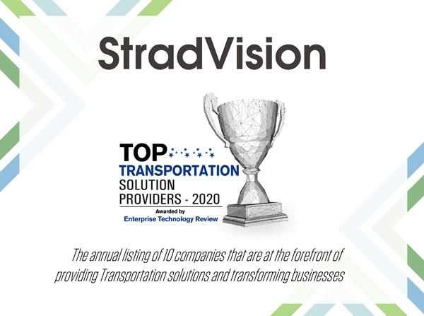 스트라드비젼, 'Top Transportation Solution Provider 2020' 선정