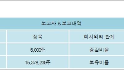 [ET투자뉴스][넵튠 지분 변동] 정욱0.02%p 증가, 9.86% 보유