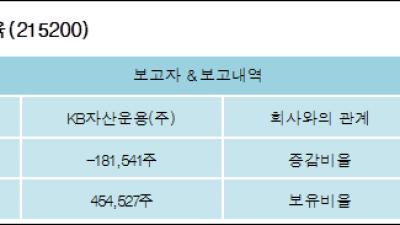 [ET투자뉴스][메가스터디교육 지분 변동] KB자산운용(주)-1.54%p 감소, 3.84% 보유