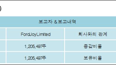 [ET투자뉴스][미투젠 지분 변동] FordJoyLimited 외 1명 9.23%p 증가, 9.23% 보
