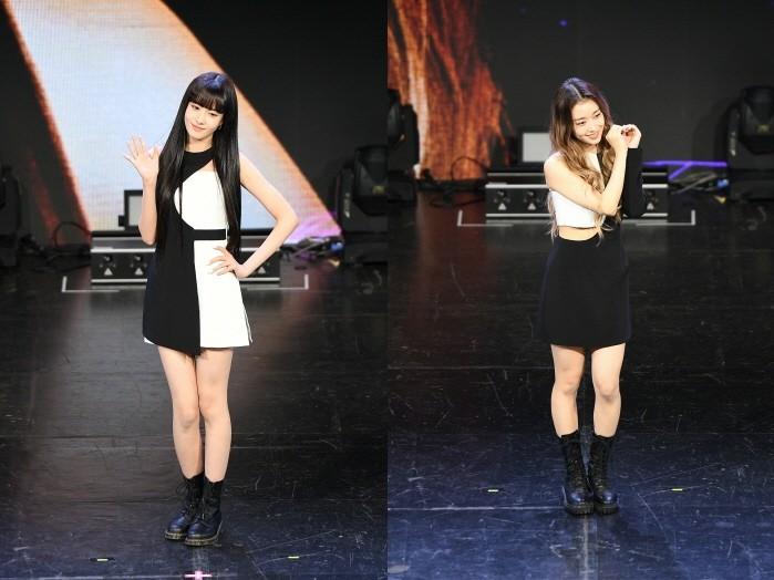 (왼쪽부터) STAYC 윤, 수민. (사진=하이업엔터테인먼트 제공)