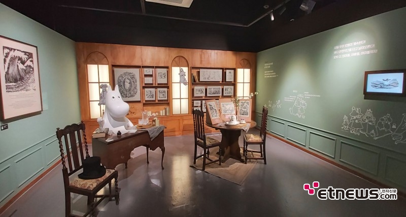 'Moomin Original : 무민 75주년 특별 원화전' 전시 전경 / 사진 : 정지원 기자
