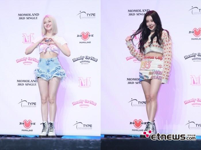 17일 서울 광진구 예스24 라이브홀에서는 모모랜드 싱글 3집 'Ready Or Not' 발매기념 쇼케이스가 열렸다. (왼쪽부터) 모모랜드 낸시, 주이.