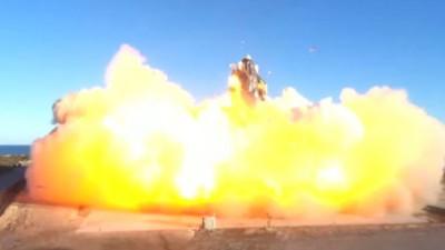 'SN8'이 지난 해 12월 9일(현지시각) 착륙을 시도하던 중 폭발했다. 사진=SpaceX 유튜브