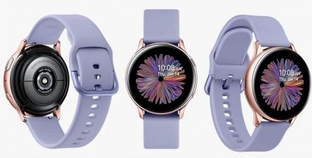 '갤럭시S21' 시리즈 팬텀 바이올렛 색상과 닮은 '갤럭시 워치 액티브2'. 사진=삼성전자