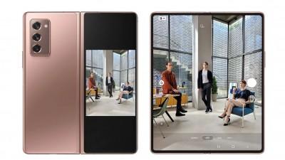 7.6인치 메인 디스플레이가 적용된 삼성 '갤럭시Z폴드2'. 사진=삼성전자