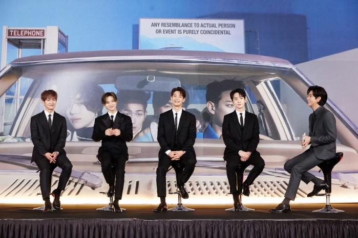 22일 SM엔터테인먼트 유튜브채널에서는 샤이니 정규7집 Don't Call Me 발매기념 간담회가 열렸다.(사진=SM엔터테인먼트 제공)