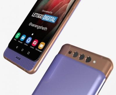 삼성 특허를 기반으로 제작한 '갤럭시A82 5G' 예상 이미지. 사진=레츠고디지털