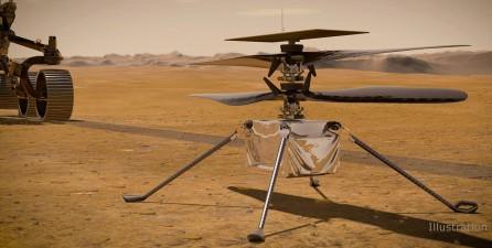 나사 소형 드론 '인제뉴어티'가 화성에서 날아오를 수 있을까. 사진=NASA/JPL-Caltech