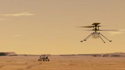 '인제뉴어티' 비행 상상도. 사진=NASA/JPL-Caltech