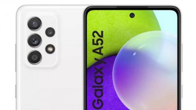 삼성 중저가 스마트폰 '갤럭시A52' 프레스 렌더링. 사진=WinFuture