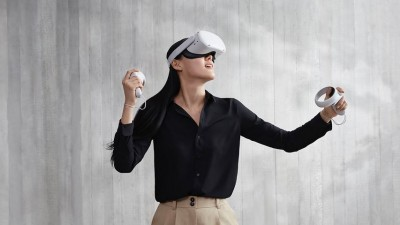 헬멧형 오큘러스 VR 헤드셋. 사진=오큘러스