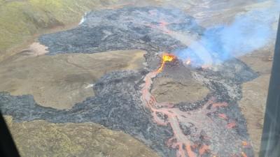 상공에서 촬영한 화산 전경. 사진=아이슬란드 기상청(IMO)
