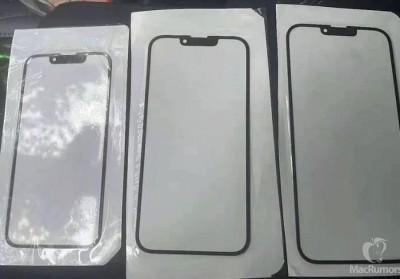 아이폰13 전면 유리 패널로 추정되는 사진이 공개됐다. 사진=맥루머스
