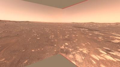 로버 퍼서비어런스 시점으로 바라본 비행 구역. 사진=NASA/JPL-Caltech