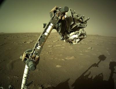 지난 2월 18일 화성에 도착한 로버 퍼서비어런스. 사진=NASA/JPL-Caltech