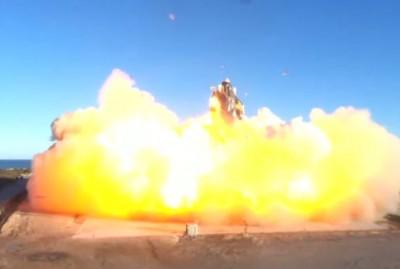 지난해 12월 9일 착륙을 시도하던 중 폭발한 SN8. 사진=스페이스X