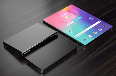 삼성 특허 기반 '폴더블 태블릿' 예상 렌더링. 사진=레츠고디지털
