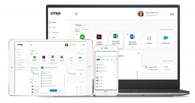 기기의 OS, 종류에 관계없이 모든 앱과 데이터를 통합해, 언제나 동일하고 안전한 환경을 제공하는 시트릭스 웍스페이스