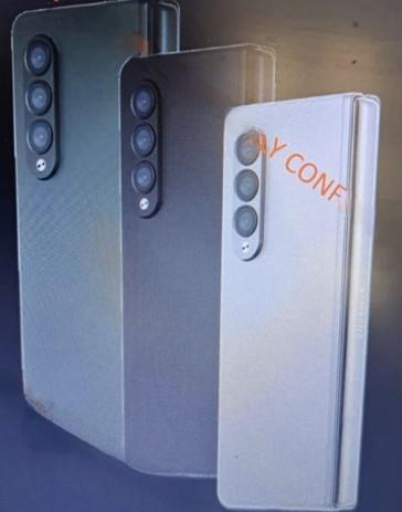삼성전자 차세대 폴더블폰 '갤럭시Z폴드3' 마케팅 이미지가 유출됐다. 사진=샘모바일