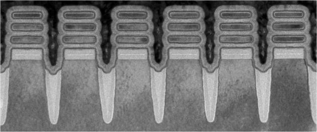 2nm 테스트칩 개발에 사용된 '나노시트' 기술 일부. 사진=IBM