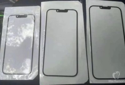아이폰13 전면 유리 패널로 추정되는 사진. 사진=맥루머스