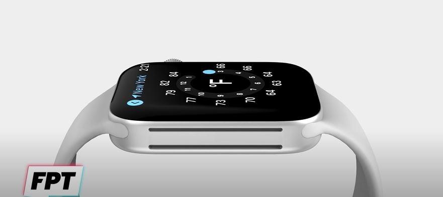 애플 스마트워치 '애플워치7' 예상 렌더링. 사진=FRONT PAGE TECH 유튜브