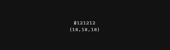16진수 헥스 코드(HEX CODE)로 표현된 블랙.
