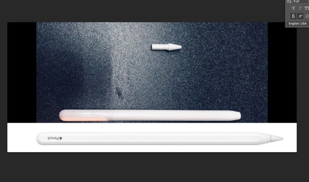 3세대 애플펜슬로 추정되는 이미지. 하단 '애플펜슬 2세대'와 비교됐다. 사진=FrontPageTech