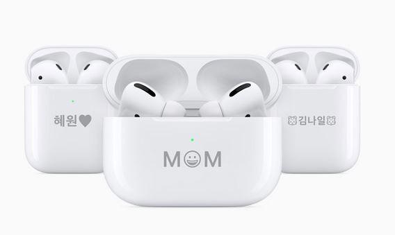 애플 무선 이어폰 에어팟 프로와 에어팟. 사진=애플