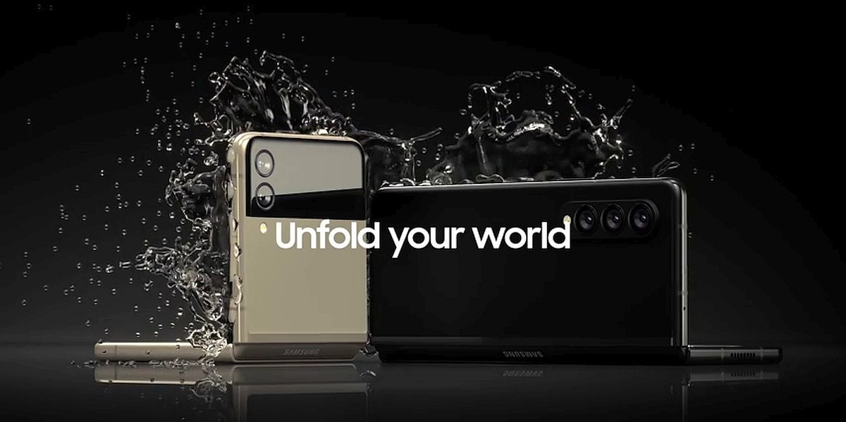 삼성전자 차세대 폴더블 스마트폰 공식 홍보용 추정 이미지. 사진=에반블래스