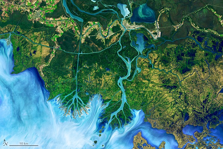 Winds Trigger Pond Growth. 사진=NASA Earth Observatory