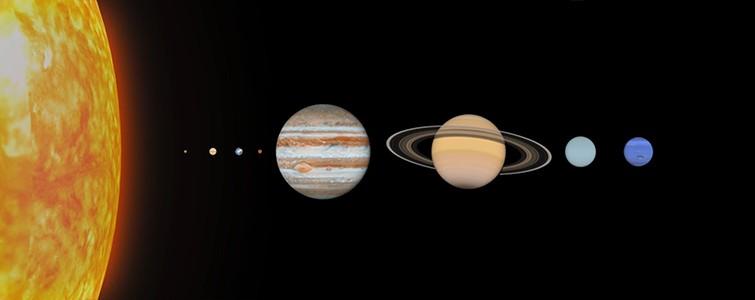 태양계 8개 행성과 9번째 행성(가장 오른쪽)으로 추측되는 '플래닛 나인' 상상도. 사진=Science magazine 유튜브