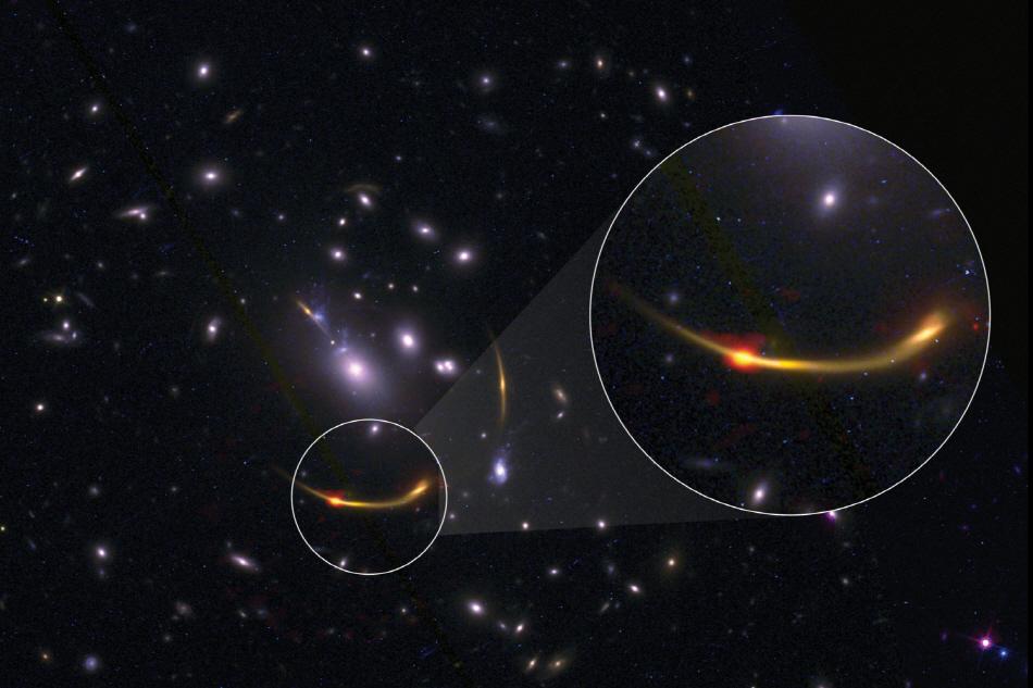항성 생성을 멈춘 은하 'MRG-M0138'. 사진= Kate Whitaker 트위터