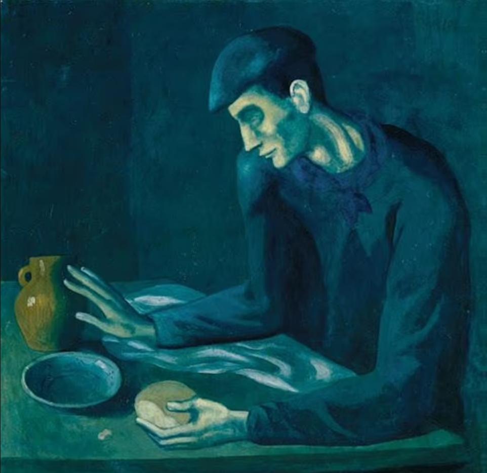 파블로 피카소 '맹인의 식사(1903)'. 사진=메트로폴리탄 미술관
