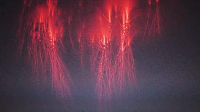 '찰나의 순간'…국제우주정거장이 포착한 '붉은 우주번개'
