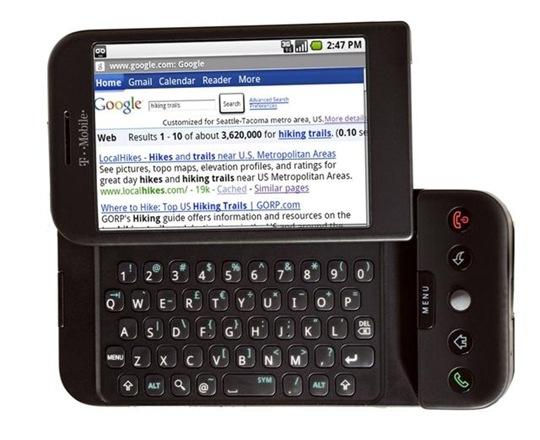 티모바일, 세계 최초 안드로이드 휴대폰 출시